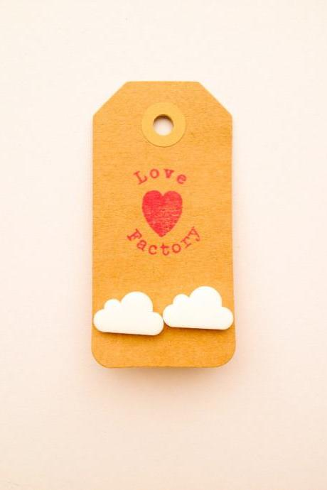 Happy Lucky Cloud Nine Day yeah xoxo While Laser Cut Charm Post Earring xoxoxo Very Kawaii love factory :)