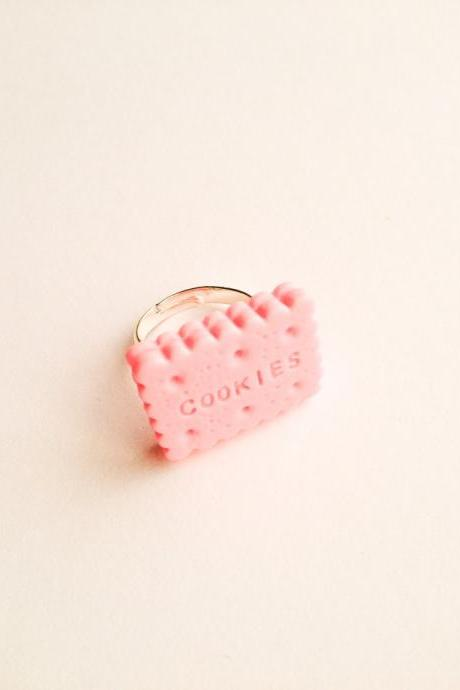 Happy Cookie Sand adjustable size Ring :) Happy Lovely Cute Kawaii Jewelry for Kids and Girls xoxo Love Factory