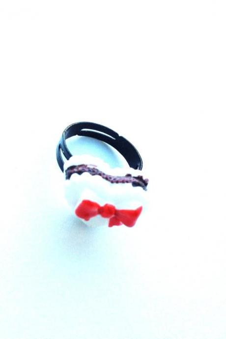 Pretty Little Bow Cake Free size Ring :) Happy Lovely Cute Kawaii Jewelry for Kids and Girls xoxo Love Factory