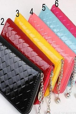 you pick,PU Leather Colorful Clutch Case lady
