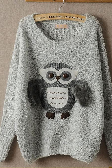 New StyleCute Bat Owl WoolSweater&Cardigan