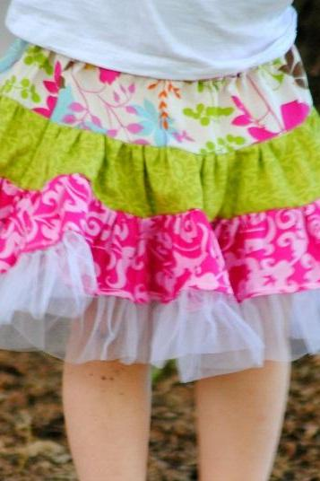 Pdf Pattern, Twirly Swirly Skirt, Sewing Pattern, 2 to 10 years of age, For beginners