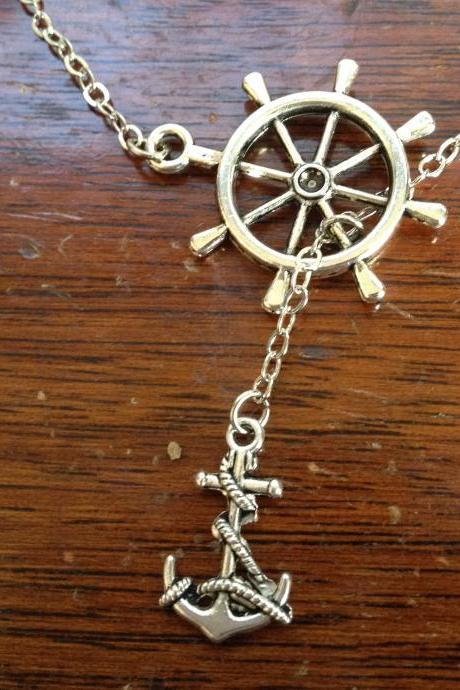 Anchor Drop Necklace