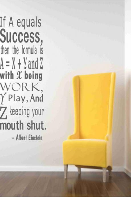 Wall Decal Quotes - Einstein Success Quote Wall Decals