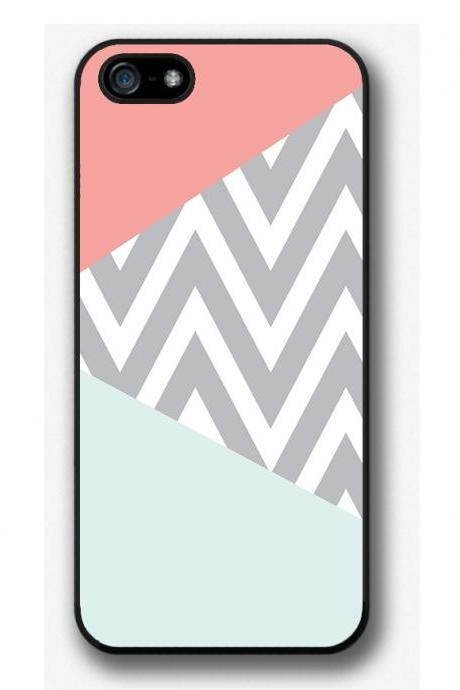 iPhone 4 4S 5 5S 5C case, iPhone 4 4S 5 5S 5C cover, Mint ZigZag Chevron