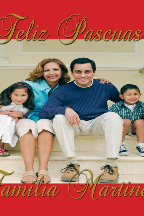Christmas-Holidays-Photo Card-Merry Christmas-Felices Pascuas - 5 X 7 -1 Sided