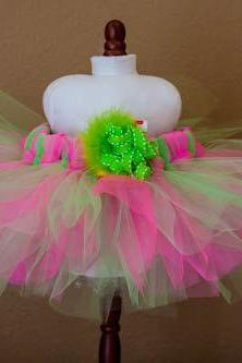 Hot Pink-Lime Green Tutu