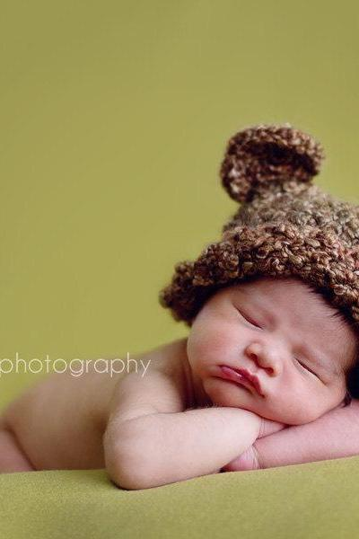 Beary Cute Bear Hat Sizes newborn to Toddler Photography Prop