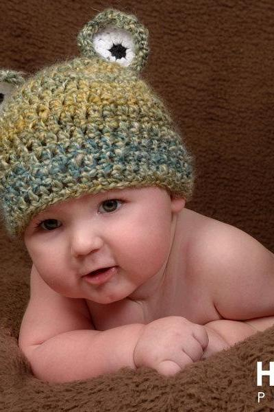Crochet Frot Hat Newborn to Toddler sizes Photography Prop
