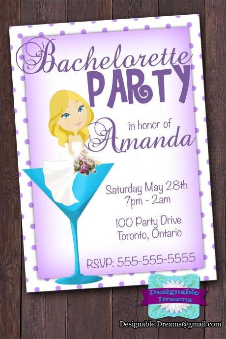 Martini Bachelorette Invitation