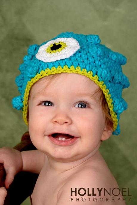 Crochet Monster Hat Newborn to Toddler sizing Photography prop