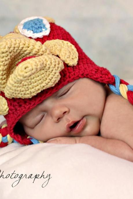 Crochet Bird Hat Newborn to Toddler sizing Photography prop