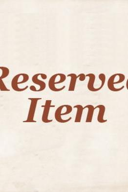 Reserved Item 3
