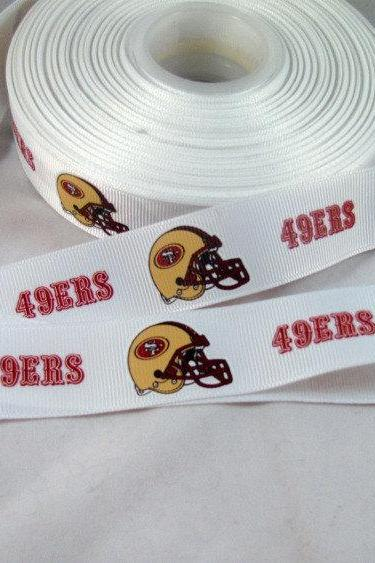 San Francisco 49's Ribbon- 1 yard 7/8' Grosgrain Ribbon