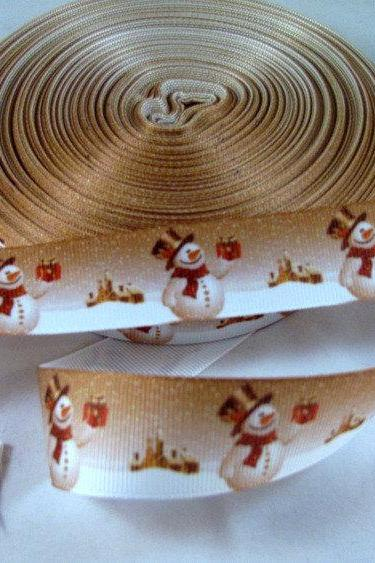 Snowman Ribbon 1 Yard 7/8' Grosgrain Ribbon