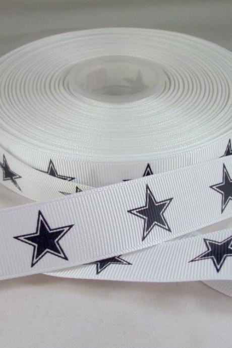 Dallas Stars 1 Yard 7/8' Grosgrain Ribbon Cowboys Ribbon