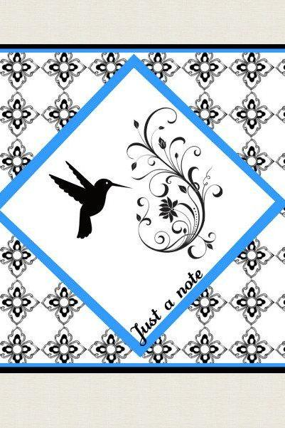 Humming Bird Note Card Set of 8