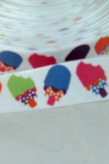 Colorful Summer Popsicle Ribbon 7/8'