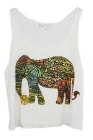 *free ship* Cute Elephant Print Tank Top