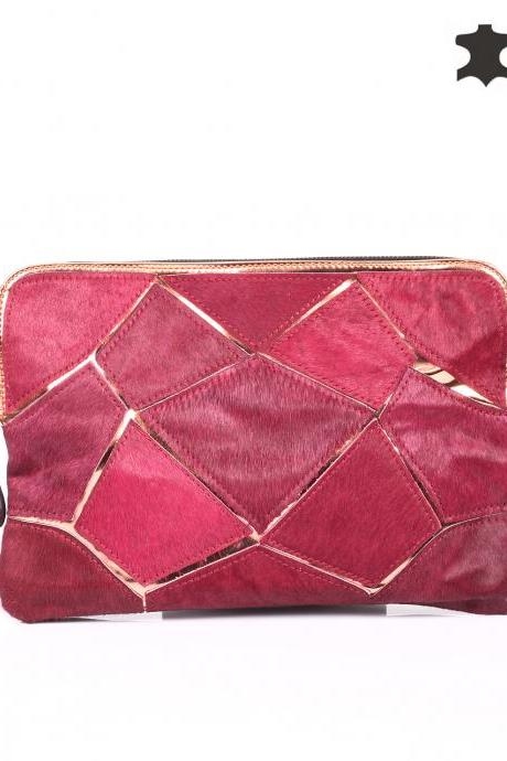 Marsala Clutch. Marsala Purse. Marsala Handbag. Genuine Leather Clutch. Marsala Leather Clutch. Red Handbag. Red Clutch. Red Purse.