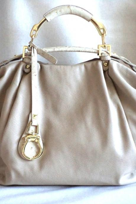 Light Beige Purse, Off White Handbag, Beige Purse, Cream Purse, Leather Hobo, Beige Leather Purse, Beige and Gold, Leather Handbag, Bridal