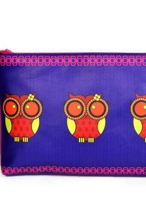 India Circus Jalebi Owl Utility Pouch, Perfect Gift Hand Bag for Unisex Adult. Your BF, GF, Husband, Wife will love it.