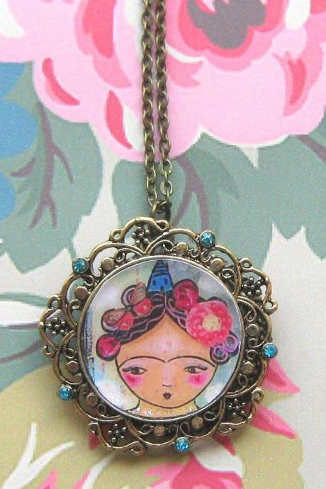 Frida in the clouds necklace