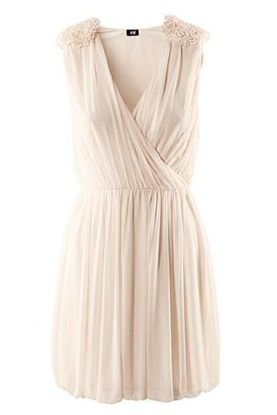 *free ship* Deep V Dress Sleeveless Dress with Ruffled Shoulders