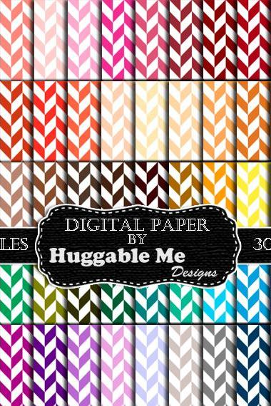 Herringbone Scrapbook Paper (60 Colors) - Instant Download Herringbone Pattern Digital Paper for Wedding, Scrapbook, Cards - HMD00093