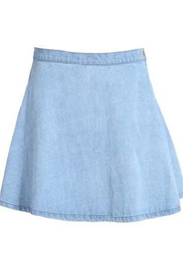 *free ship* Denim Mini Skater Skirt