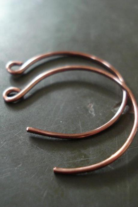 Copper hoop earrings, Hoop earring, Handmade earring, Copper Earrings
