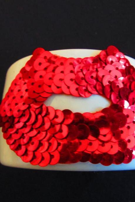 Hot Lips Cuff Bracelet - one of a kind