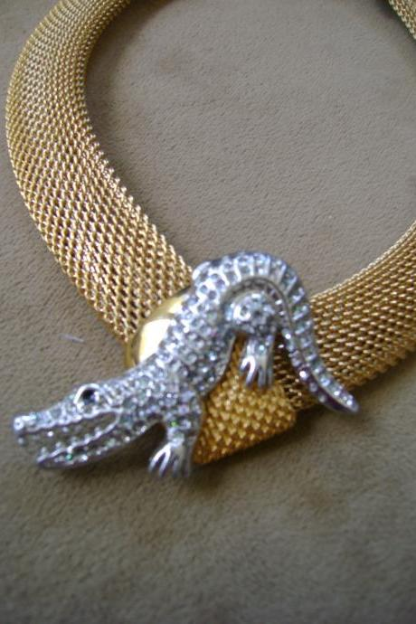 Crocodile Rock Necklace - one of a kind
