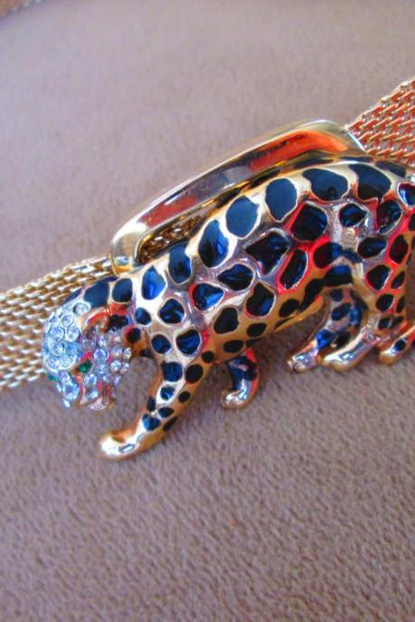 Spotted Leopard Choker Necklace - One of a kind