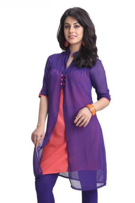 Purple Handcrafted Kurti