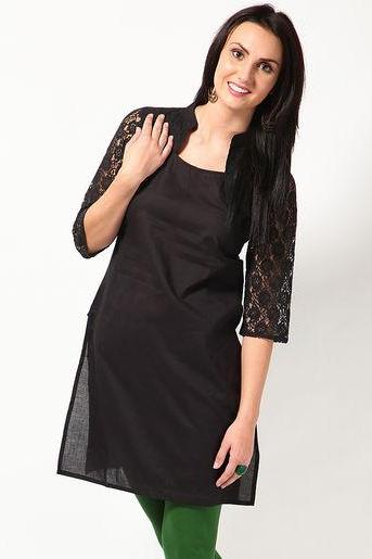 Lace Sleeve and Shrug Kurta