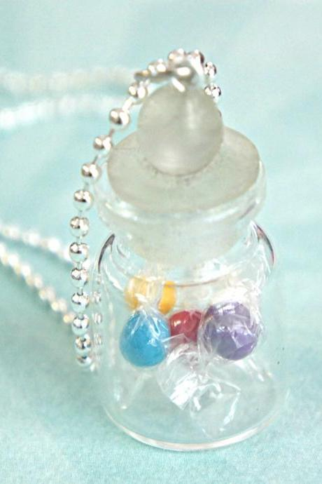 candies in a jar necklace