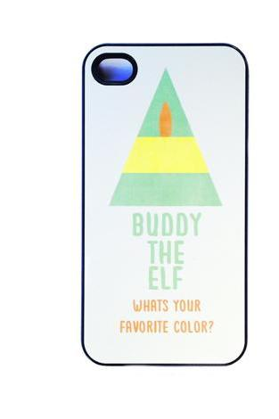 buddy the elf WHATS YOUR FAVORITE COLOR iphone case