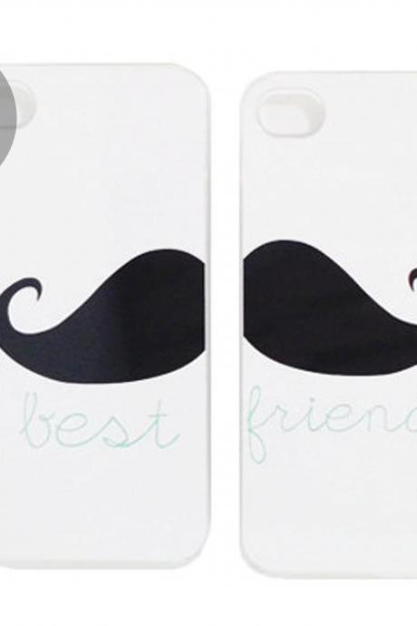 MOUSTACHE best friends iphone cases