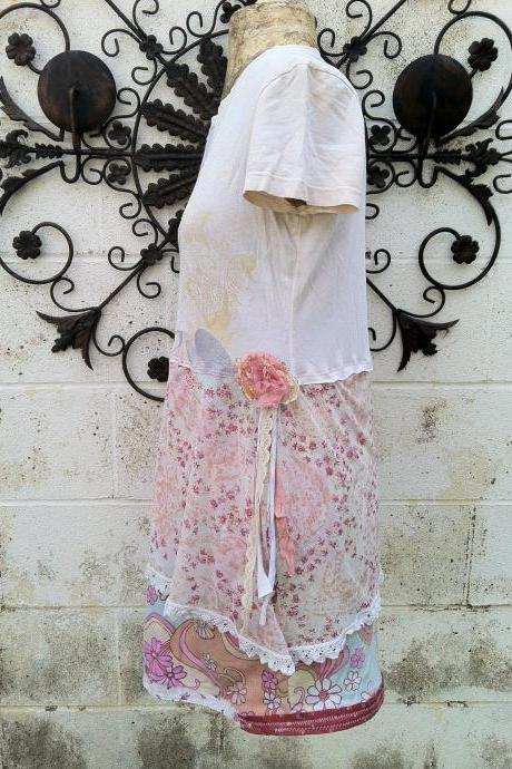 Angel Love Wearable Art Upcycled Eco Dress