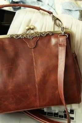 Vintage Hollow Satchel Tote Shoulder Bag & Handbag