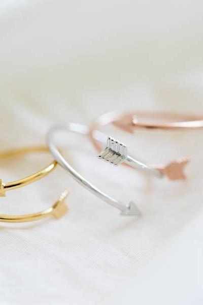 arrow ring,unique ring,adjustable ring,knuckle ring,stretch ring,men ring,couple ring/cute ring/fun ring/bow ring,rose gold ring,R027N