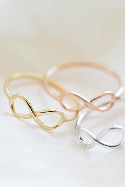 infinity ring,infinite ring,eternity ring,gold infinity ring,rose gold infinity ring,sister infinity ring,infinity jewelry,R005N