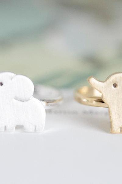 cute elephant ring/unique ring/adjustable ring/animal ring/stretch ring/men ring/cool ring/couple ring/mens ring/cute ring,R028N