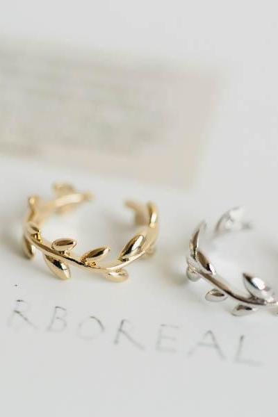 adjustable knuckle leaf ring,,jewelry,rings,unique ring,adjustable ring,knuckle ring,stretch ring,men ring,cool ring,couple ring,R242N