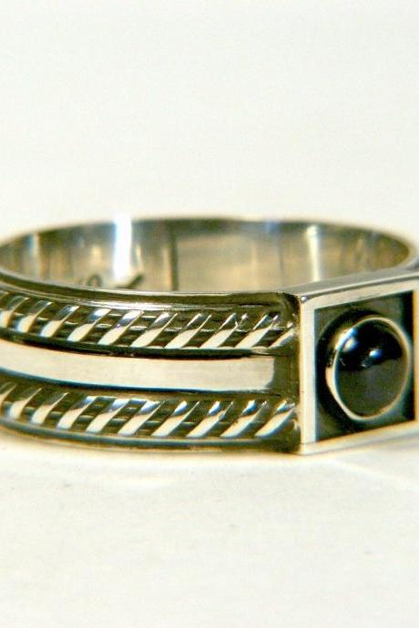 Sapphire Sterling Men's Band