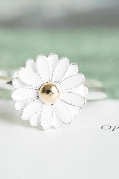 daisy ring,jewelry, jewelry ring,anniversary ring,unique ring,cute ring,adjustable ring, stretch ring,ring for women,R139N