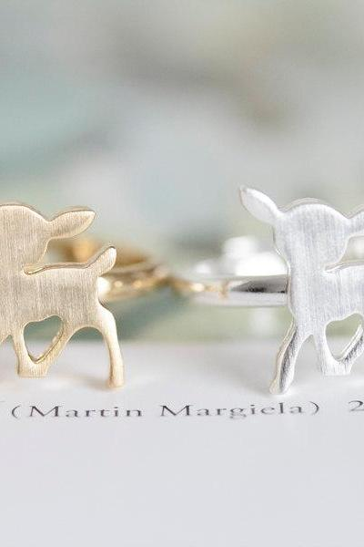 Bambi ring/unique ring/adjustable ring/animal ring/stretch ring/men ring/cool ring/couple rings/mens ring/cute ring,R006N