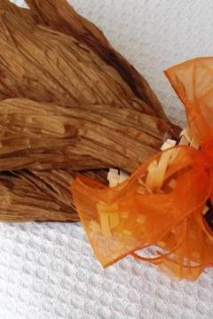 Corn Brown and Orange with Orange Ribbon 101