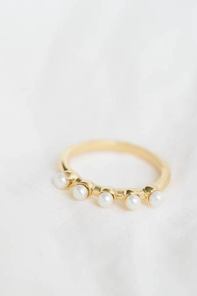 mini pearl knuckle ring,pinky rings, jewelry,anniversary rings,wedding rings,bridesmaid ring,bridal ring,unique rings, R216N